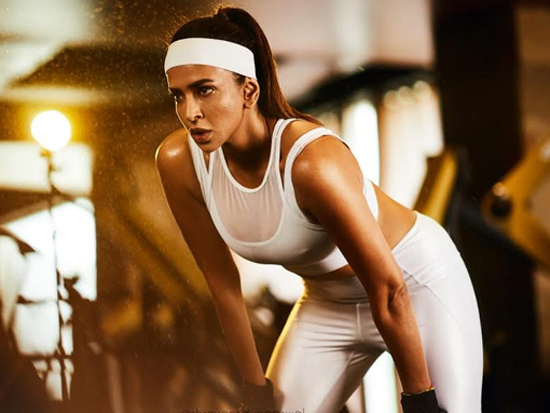 Latest stills Of Actress Lakshmi Manchu In Gym