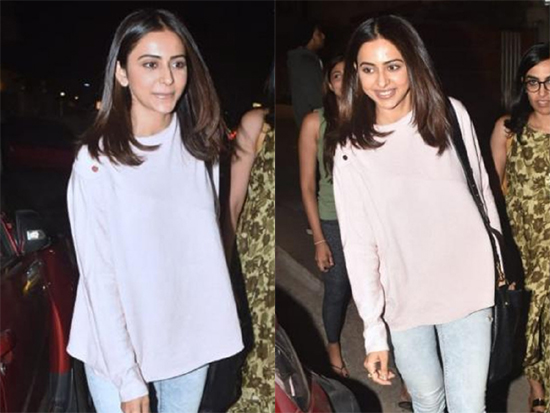 Rakul Preet Singh Spotted in Casual Wear Photos
