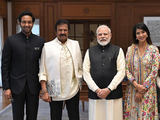 Dr M Mohan Babu And His Family Meets PM Modi