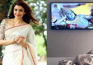 Kajal Aggarwal enjoyes Ramayana on DD National