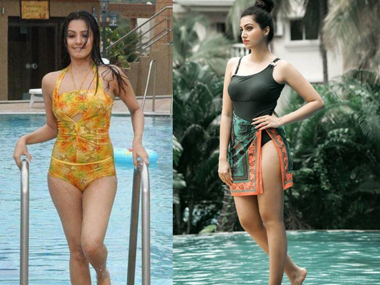 Tollywood Heroines Snaped By Swimming Pool