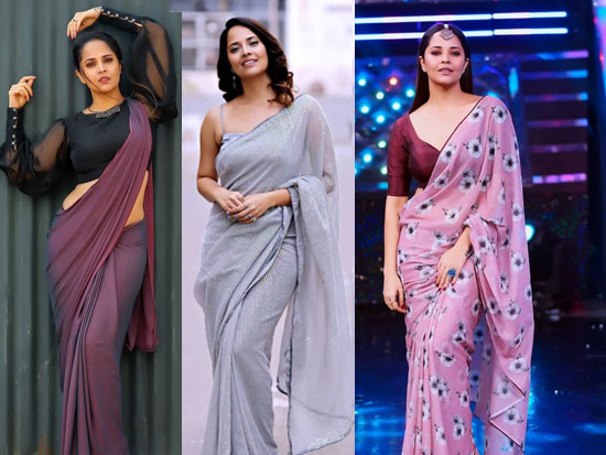 Anasuya Saree Photos Album