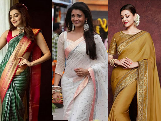 Kajal Aggarwal Latest Saree Stills
