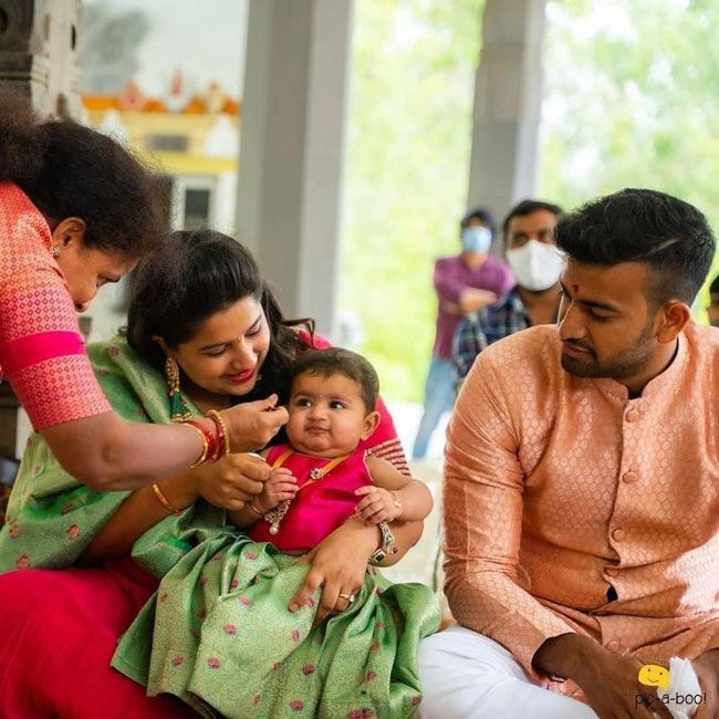 Dil Raju grand daughter Ishika Annaprasana Images