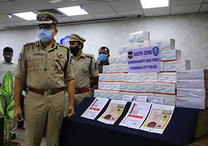Hyderabad Police busted Anti virus Drug Black Market