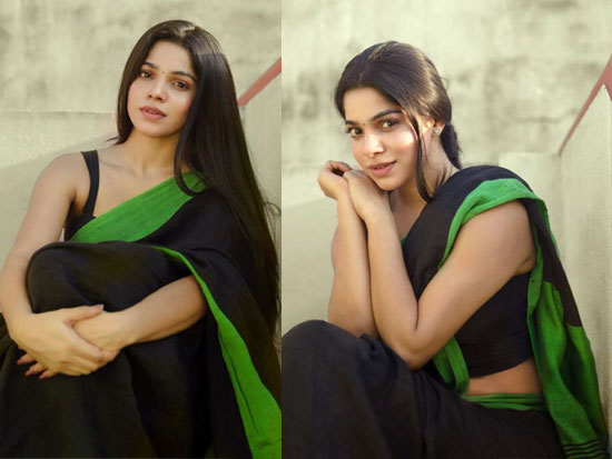Divyabharathi Saree Looks