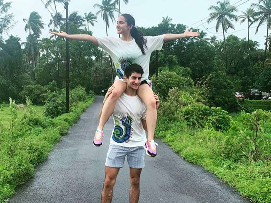 Sara And Ibrahim Ali Khan Latest Clicks