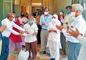 A record large scale discharge of virus patients in a single day in the country was recorded on Tues