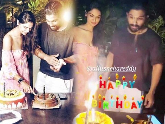 Allu Arjun Celebrates A Lavish Birthday Party