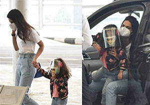 Allu Sneha Reddy Seen At Airport With Her Daughter