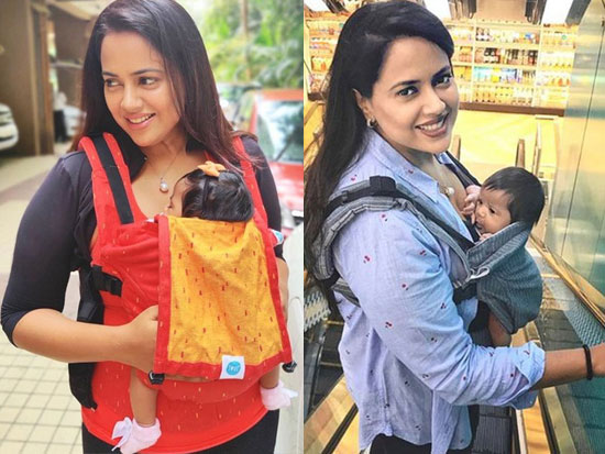 Photos Of Sameera Reddy With Her Baby