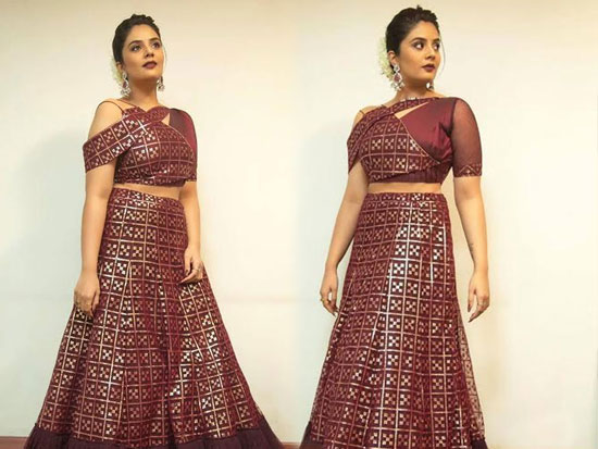 Looking pretty And Gorgeous Sreemukhi