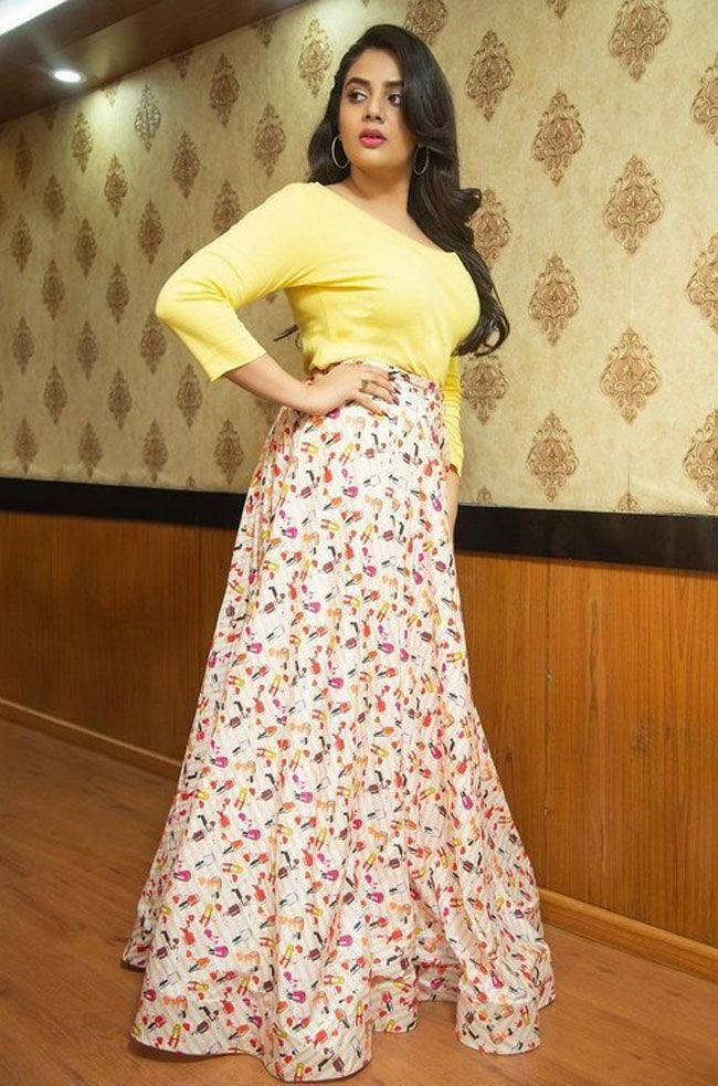 See How Sreemukhi Looks Beautiful In Yellow Dress