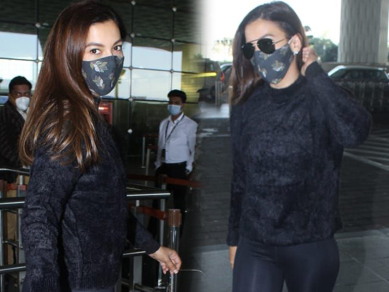 Gauahar Khan At Airport