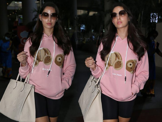 Nora Fatehi Snapped At Airport