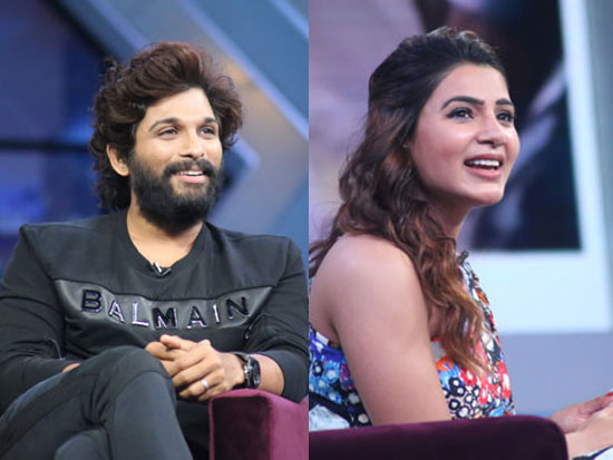 Allu Arjun and Samantha from the sets of SamJam