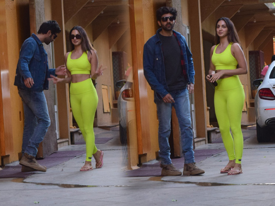 Kartik Aaryan And Kiara Advani Spotted Dance Class In Juhu
