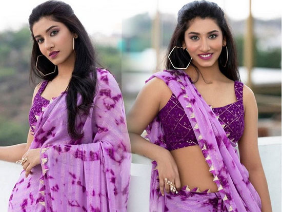 Vishnu Priya Latest Saree Pictures