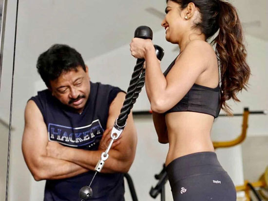 Ariana is doing gym with RGV