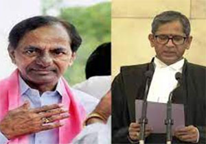 CM KCR Wishes to Supreme Court Chief Justice NV Ramana