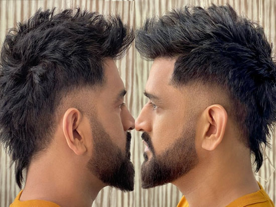 Dhoni new hair style Rocks the internet