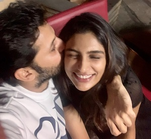 Nithin shares lovely picture with wife