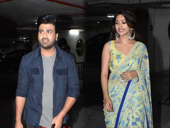 Anu Emmanuel and Sharwanand Spotted in Hyderabadh