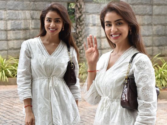Musskan Sethi Spotted in a White Dress