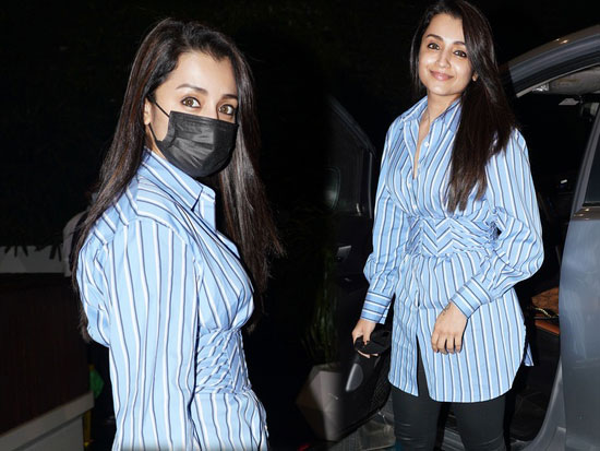 Actress Trisha spotted in hyderabad