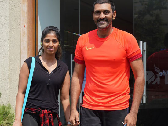 Ajay with wife Spotted at Gym