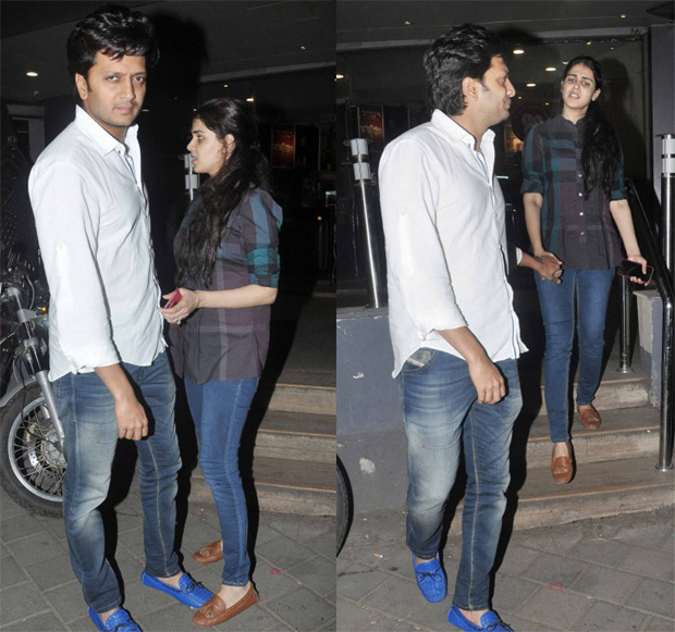 Ritesh Deshmukh and Genelia D Souza at a filmi party