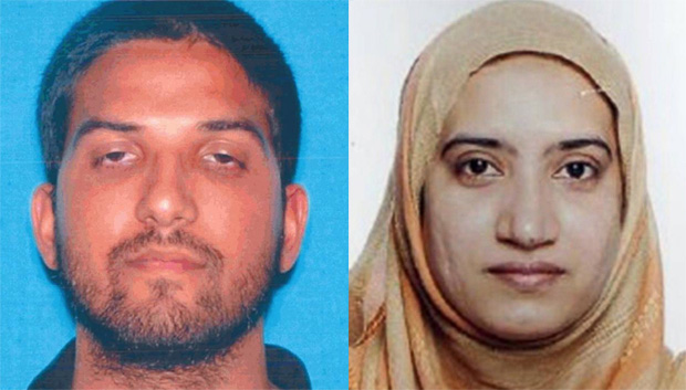 Tashfeen Malik and Syed Rizwan in San Bernardino shooting