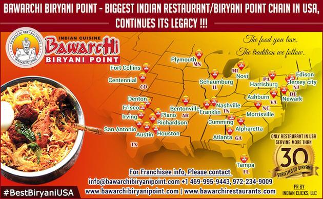 Bawarchi Biryani Point Biggest Restaurant Chain in USA