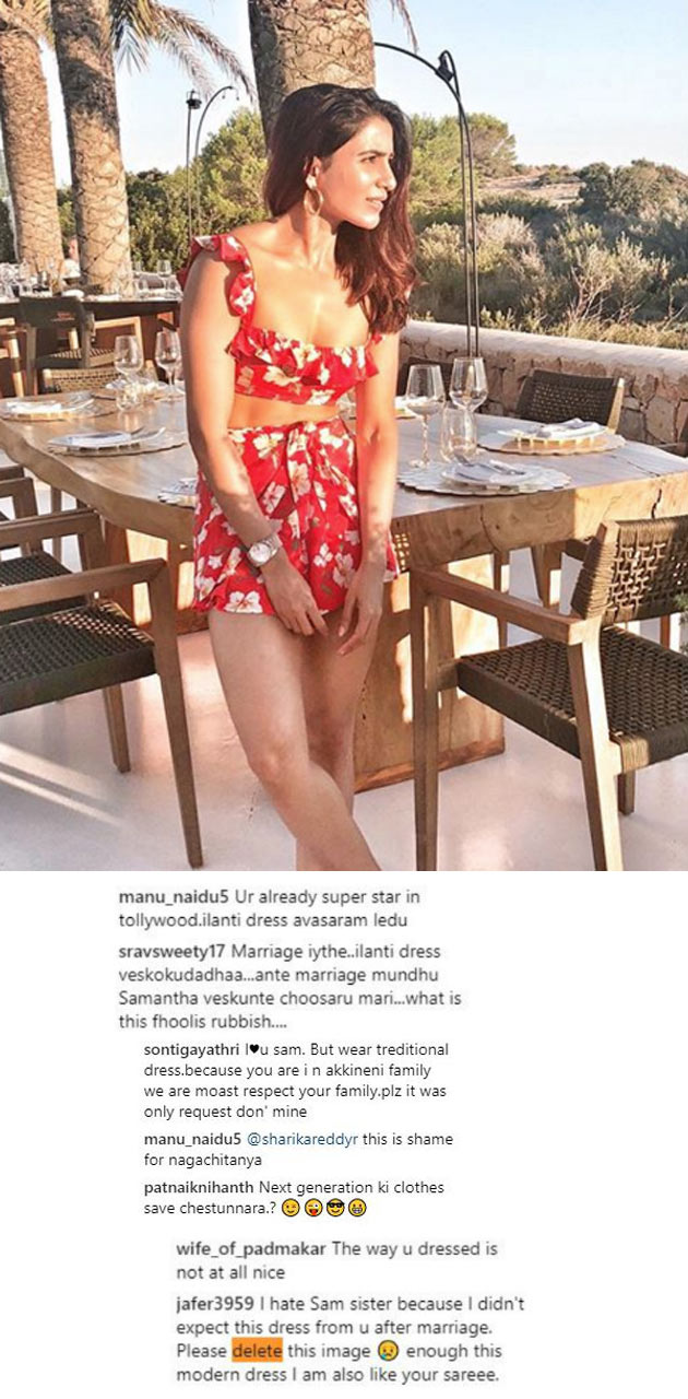 Samantha Trolled in Social Media Over She Is wear Short Dress