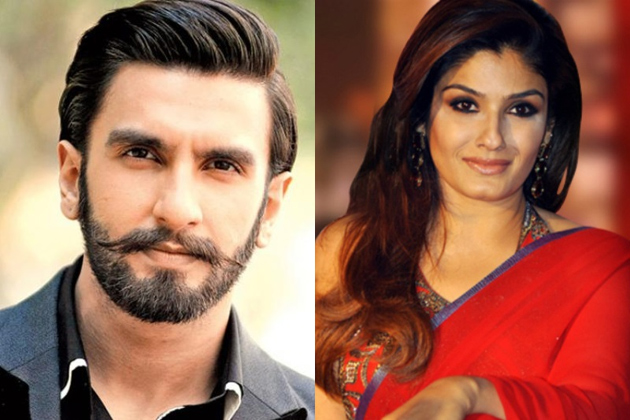Raveena Tandon threw out Ranveer Singh from a film  set