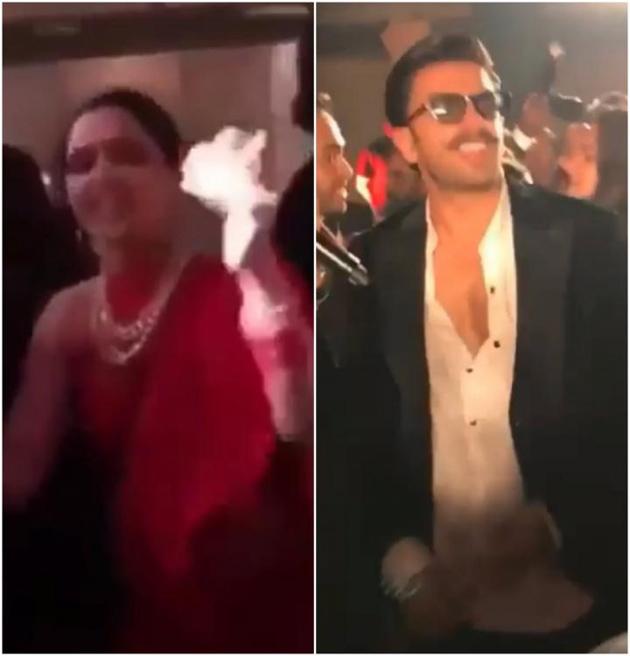 Ranvir Singh And Deepika Padukone Dance at the dance floor at the Ambani wedding bash
