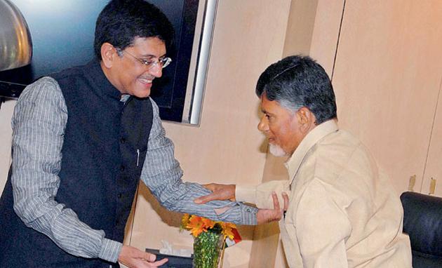 Piyush Goyal Challenges Chandrababu Naidu For Debate on NDA