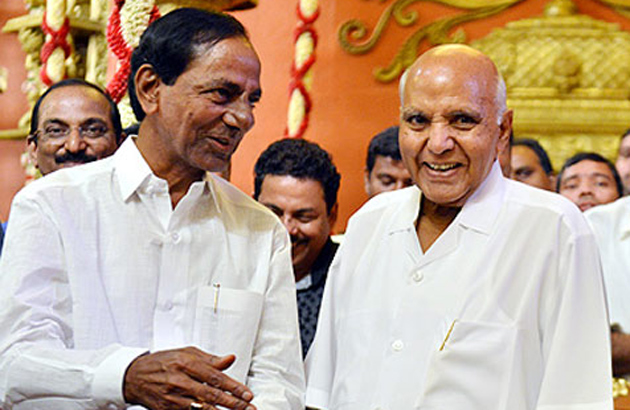 KCR Attend for Ramoji Rao Grand Daughter Wedding