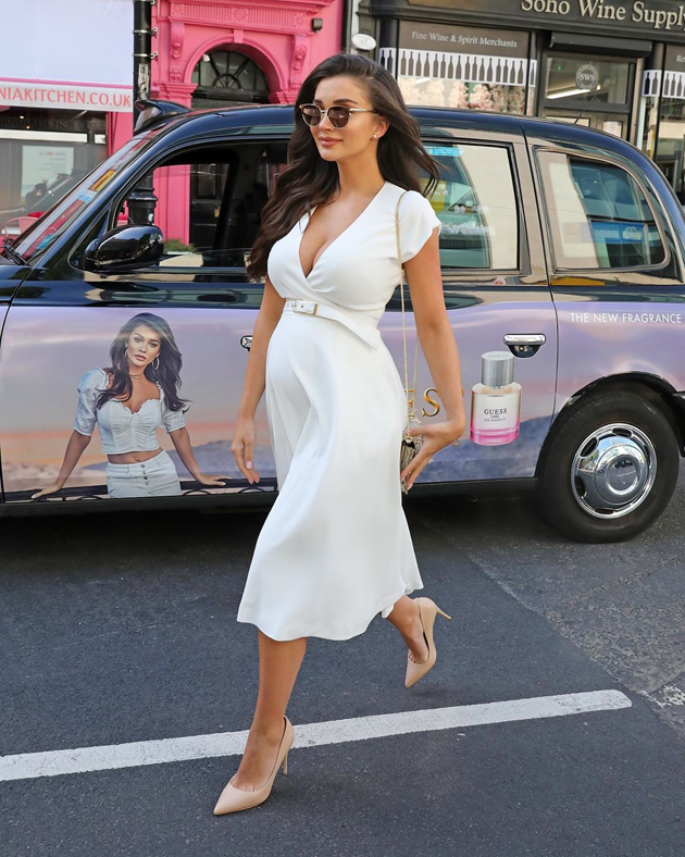 Amy Jackson Spotted with Baby Bump