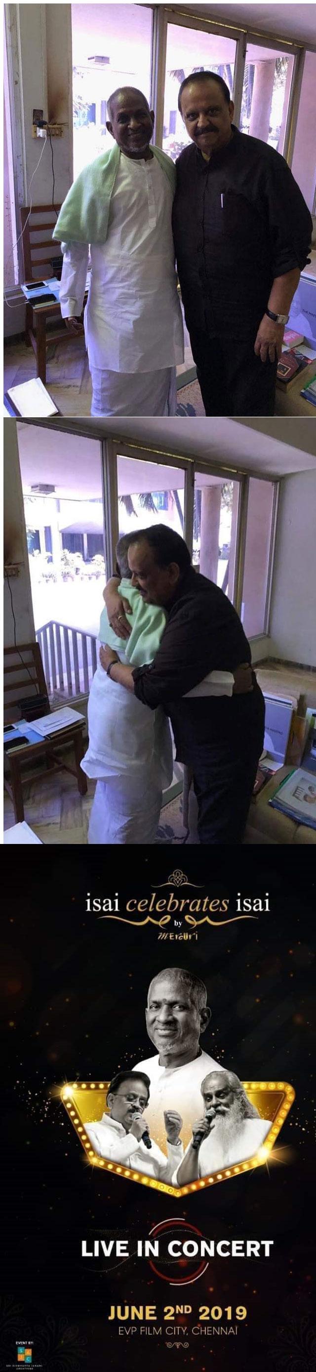 Legends SPB and Ilaiyaraja Hug It Out