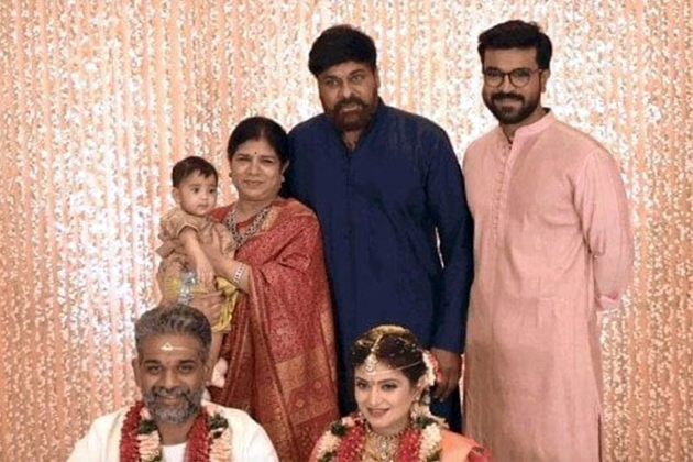 Chiranjeevi Attends For Allu Bobby marriage