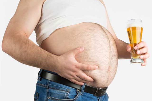 Men Get Fat With Drink Alcohol