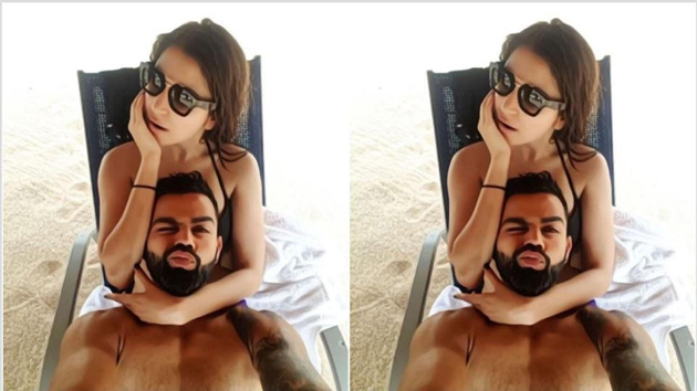 Anushka and Virat Kohli Selfie in Beach