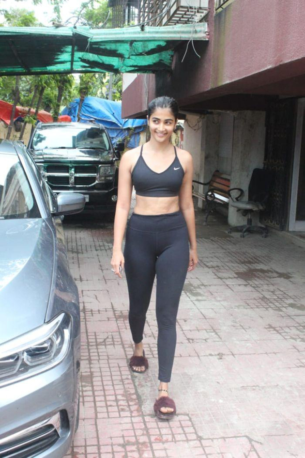 Pooja Hegde Spotted at Gym