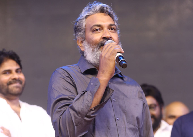 Rajamouli Throws Punch On Rain In Sye Raa Pre Release Event