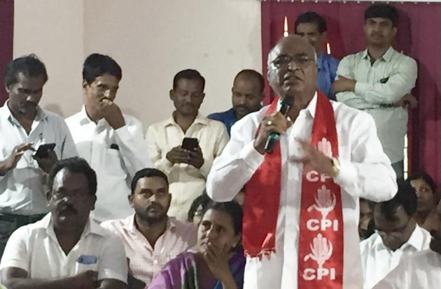 CPI to reconsider its alliance with TRS for Huzur Nagar Bypolls