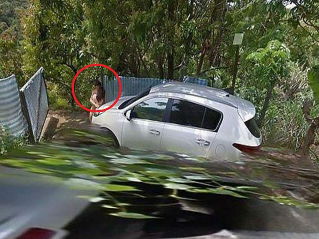 Couple Caught Camera in google street