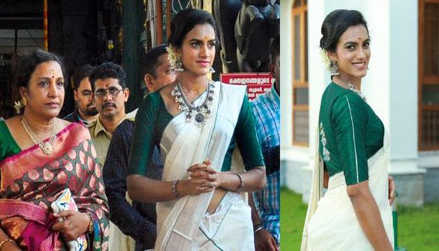 PV Sindhu Turns Traditional Kerala Kutty