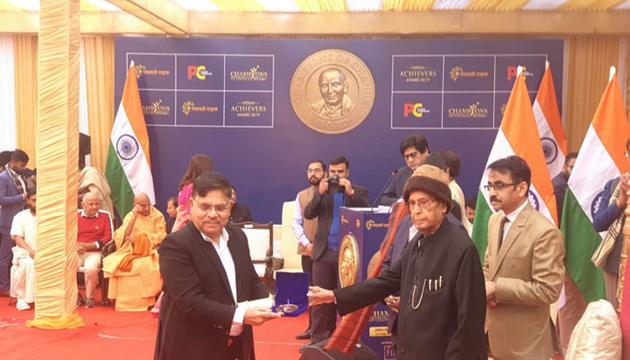 Allu Aravind Gets Award from Ex President