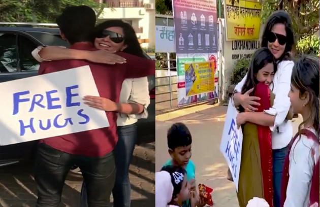 Bollywood Actress Richa Chadha Hugs Stranger
